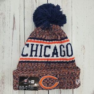Chicago Bears Patriots New Era Pom Beanie Hat